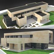 Modern House low poly 3d model 3d model