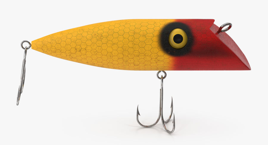 Old Fishing Lure royalty-free 3d model - Preview no. 4