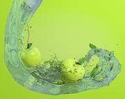 Apple in Water 3d model