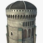 Купольная башня 3d model