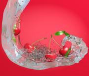 Cherry in water 3d model