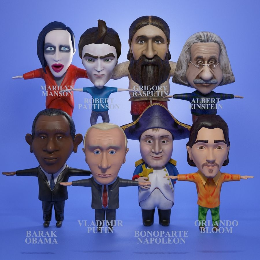 Famous people royalty-free 3d model - Preview no. 1
