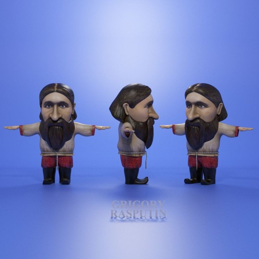 Famous people royalty-free 3d model - Preview no. 18