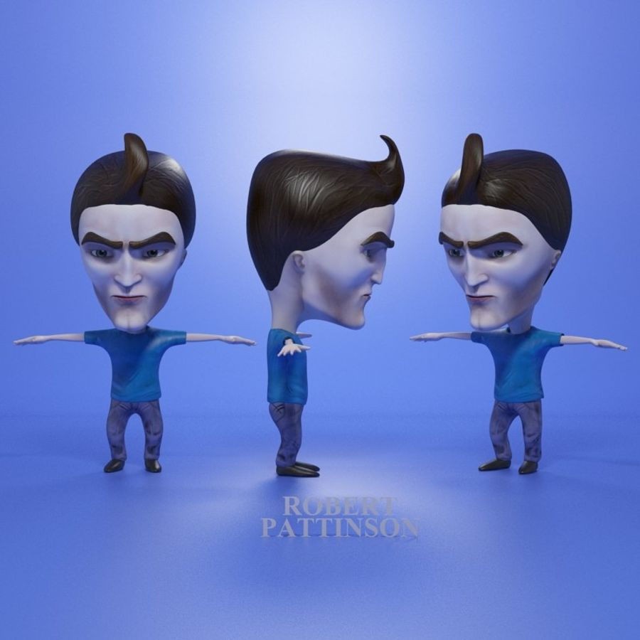 Famous people royalty-free 3d model - Preview no. 14
