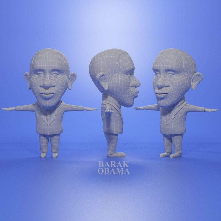 Famous people royalty-free 3d model - Preview no. 13