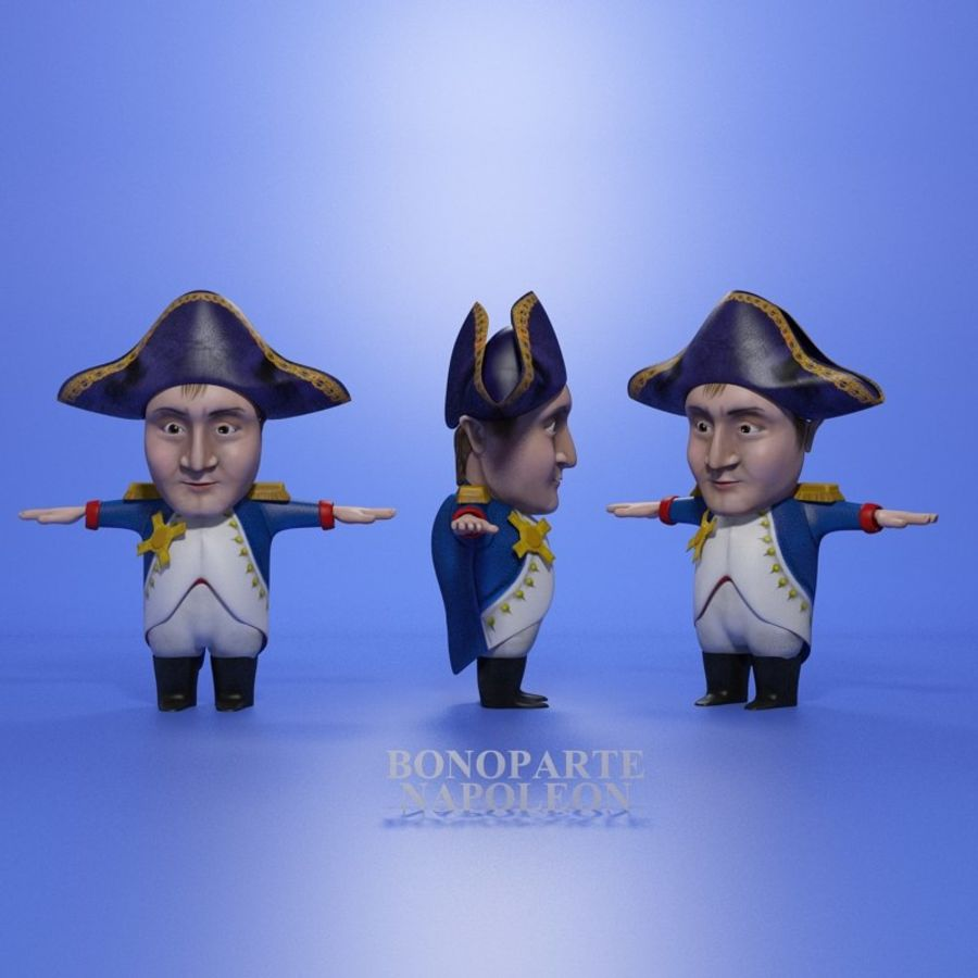Famous people royalty-free 3d model - Preview no. 10