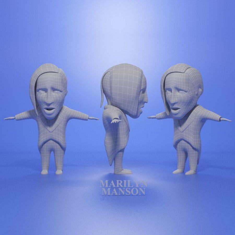 Famous people royalty-free 3d model - Preview no. 9