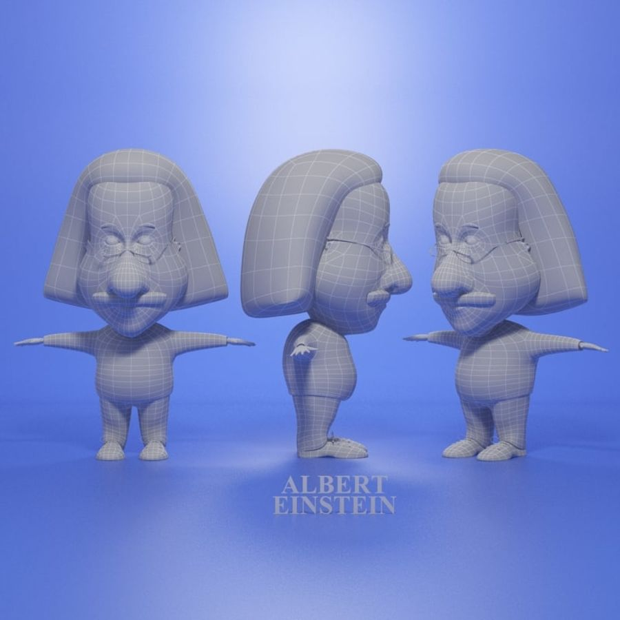 Famous people royalty-free 3d model - Preview no. 5