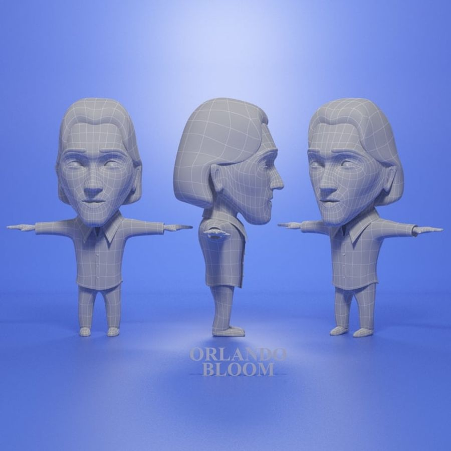 Famous people royalty-free 3d model - Preview no. 3
