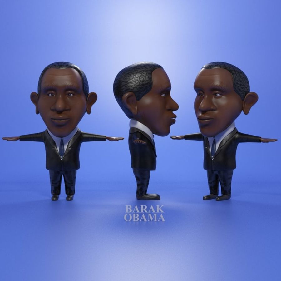 Famous people royalty-free 3d model - Preview no. 12