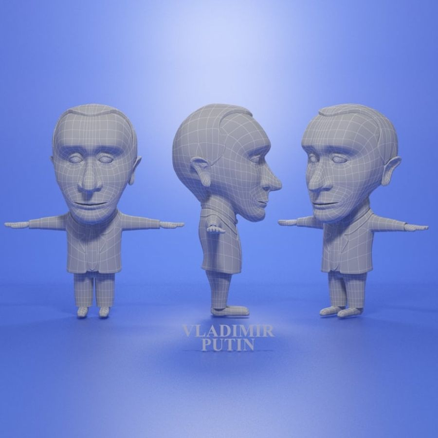Famous people royalty-free 3d model - Preview no. 17