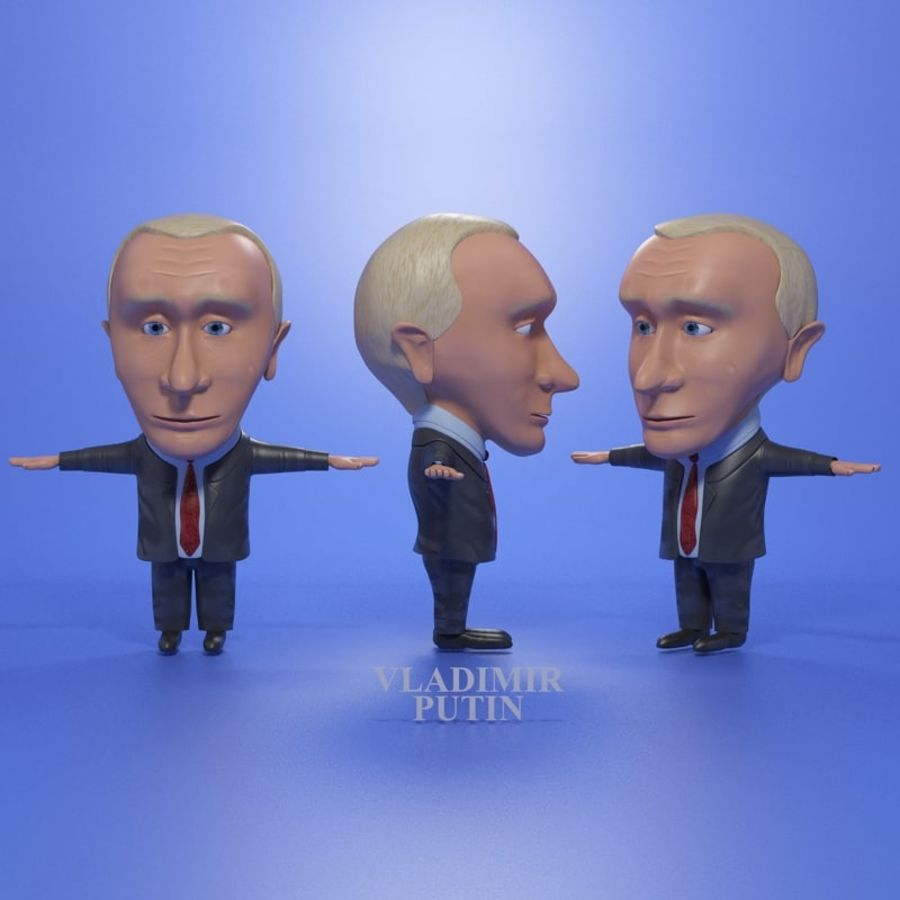 Famous people royalty-free 3d model - Preview no. 16