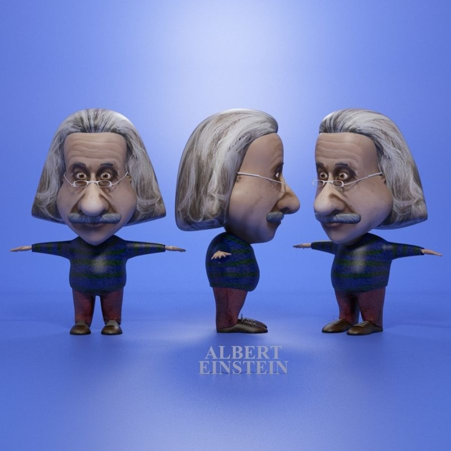 Famous people royalty-free 3d model - Preview no. 4