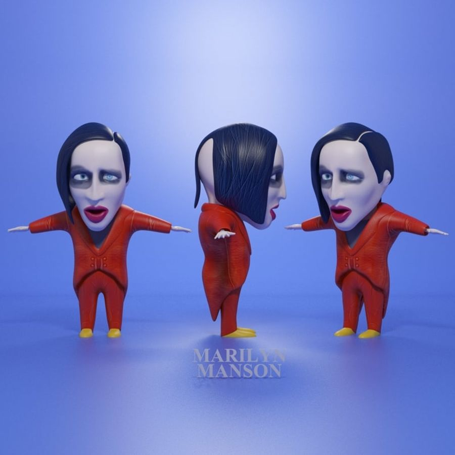 Famous people royalty-free 3d model - Preview no. 8