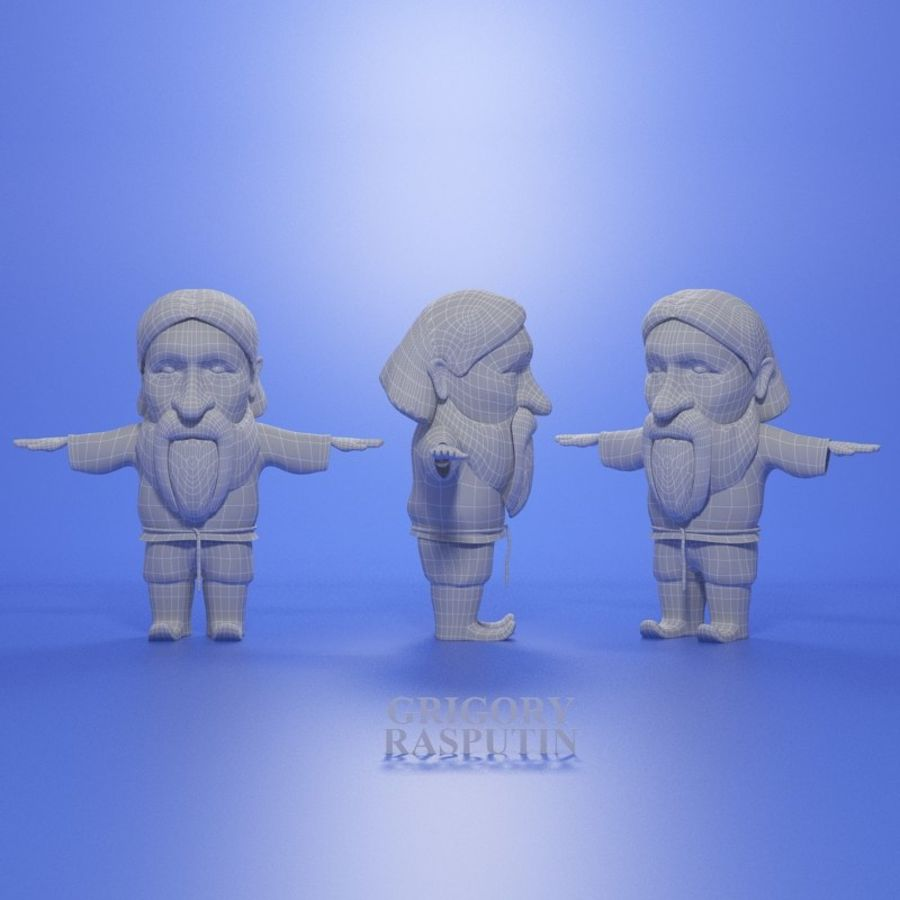 Famous people royalty-free 3d model - Preview no. 19