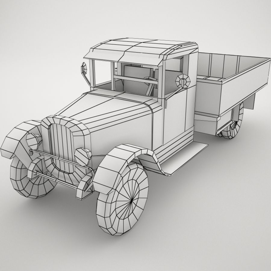 卡车 royalty-free 3d model - Preview no. 6