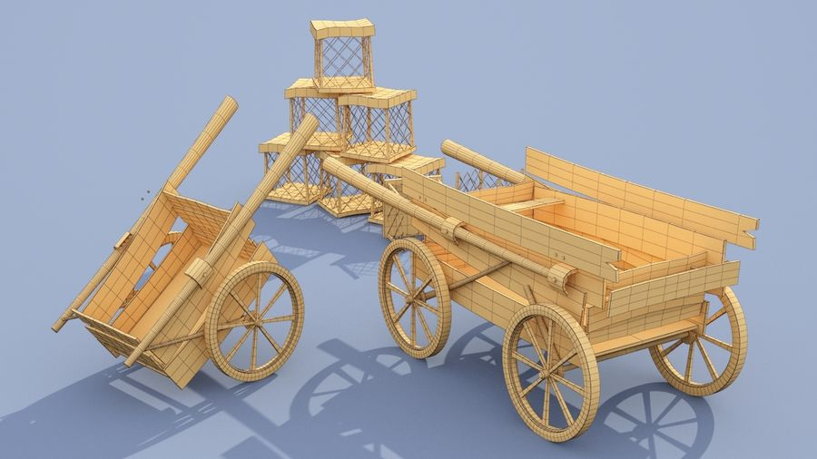 market stall royalty-free 3d model - Preview no. 13