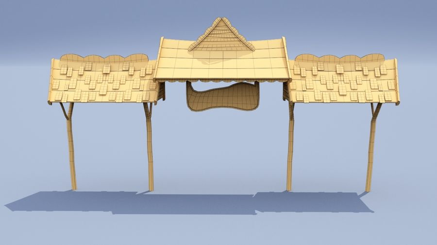 market stall royalty-free 3d model - Preview no. 9