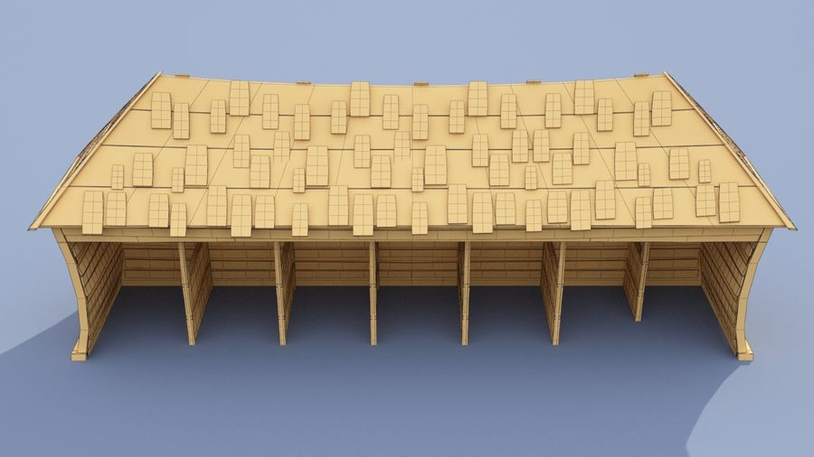 market stall royalty-free 3d model - Preview no. 11