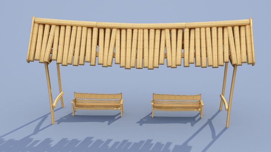 market stall royalty-free 3d model - Preview no. 12