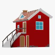 Винтажный дом фантазии 3d model