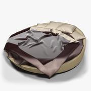 Modern Round Bed 3d model
