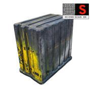 Dumpster Garbage 8K-spel klar 3d model