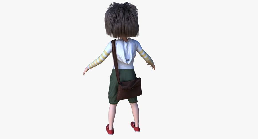 Cartoon Boy Character PBR royalty-free 3d model - Preview no. 8