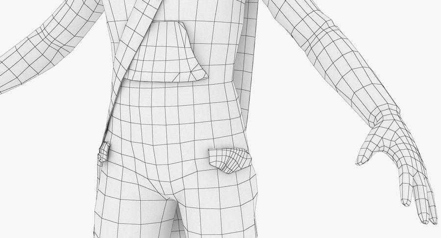 만화 소년 캐릭터 PBR royalty-free 3d model - Preview no. 16