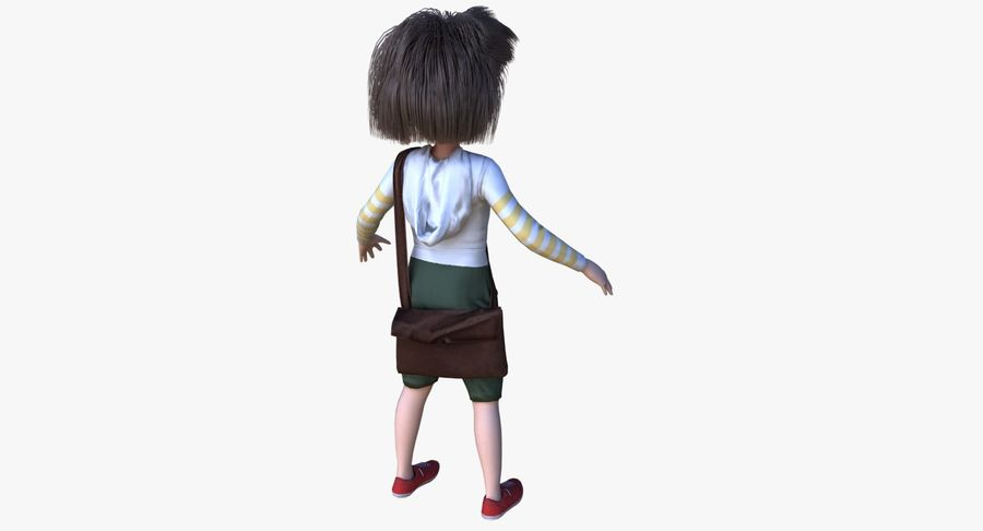 Cartoon Boy Character PBR royalty-free 3d model - Preview no. 7