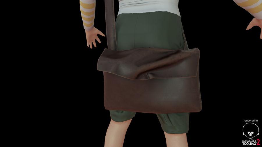 만화 소년 캐릭터 PBR royalty-free 3d model - Preview no. 31