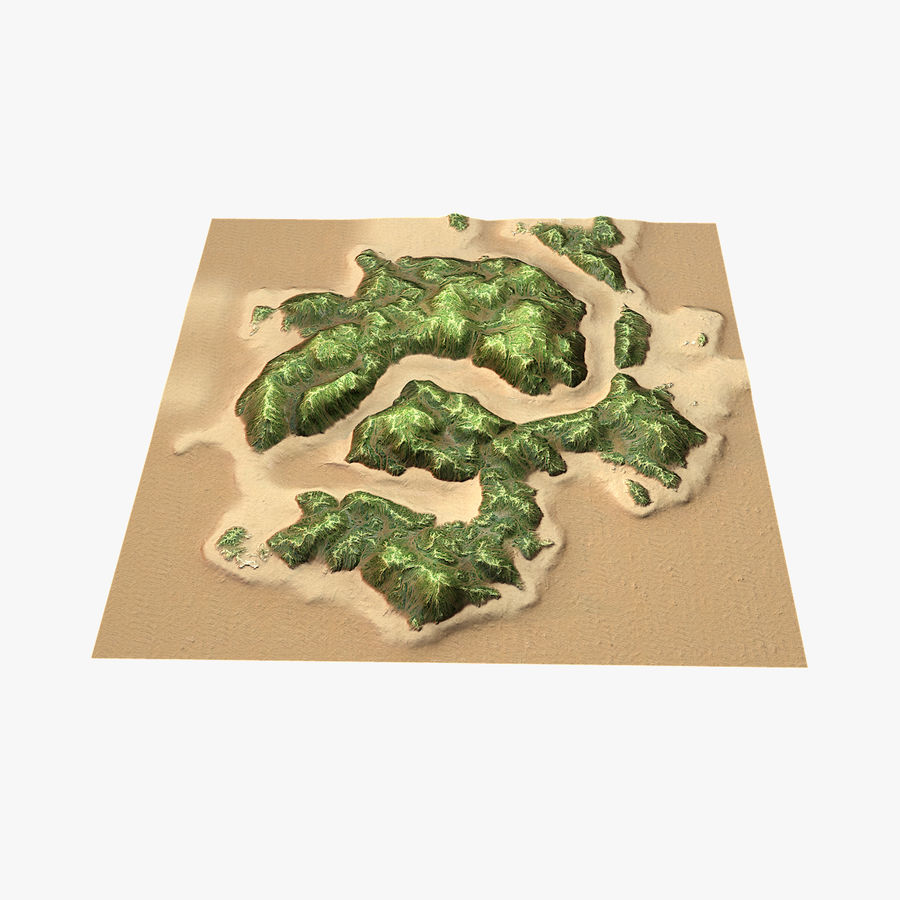Tropical Island Terrain 2 royalty-free 3d model - Preview no. 12