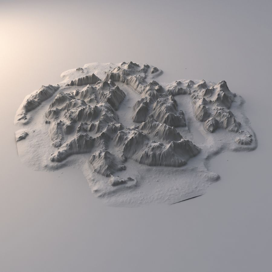 Tropical Island Terrain 2 royalty-free 3d model - Preview no. 8