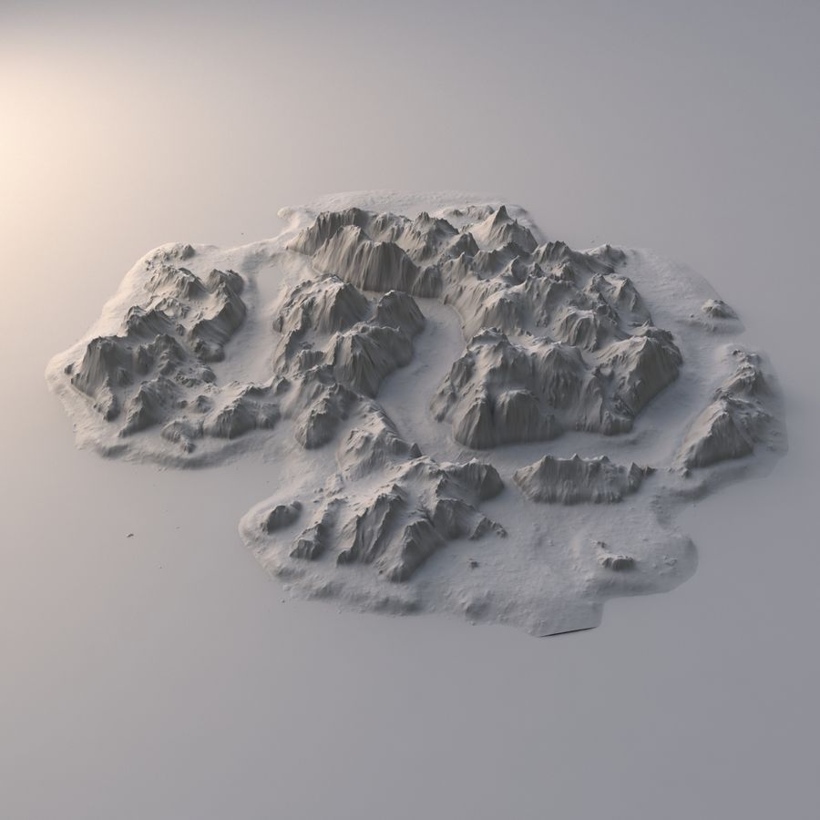 Tropical Island Terrain 2 royalty-free 3d model - Preview no. 7