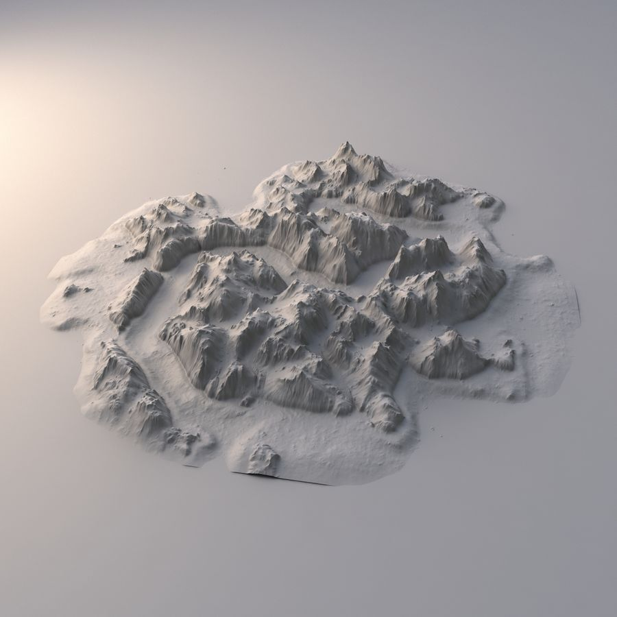 Tropical Island Terrain 2 royalty-free 3d model - Preview no. 9