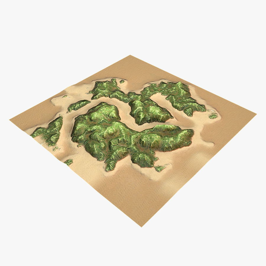 Tropical Island Terrain 2 royalty-free 3d model - Preview no. 11