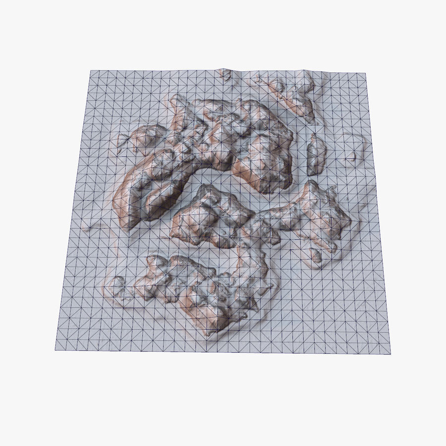 Tropical Island Terrain 2 royalty-free 3d model - Preview no. 15