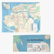 ニューヨーク地下鉄マップセット 3d model