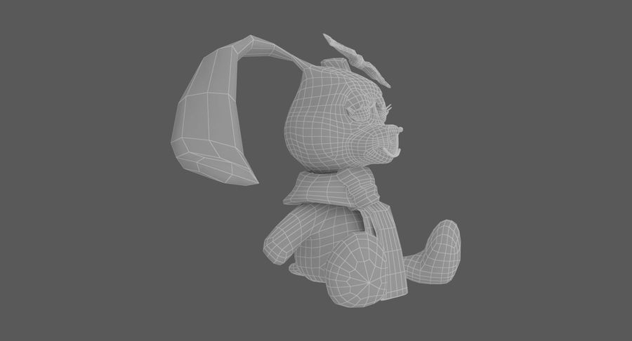 Toy Rabbit royalty-free 3d model - Preview no. 10