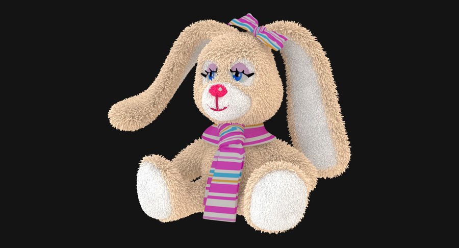 Toy Rabbit royalty-free 3d model - Preview no. 3