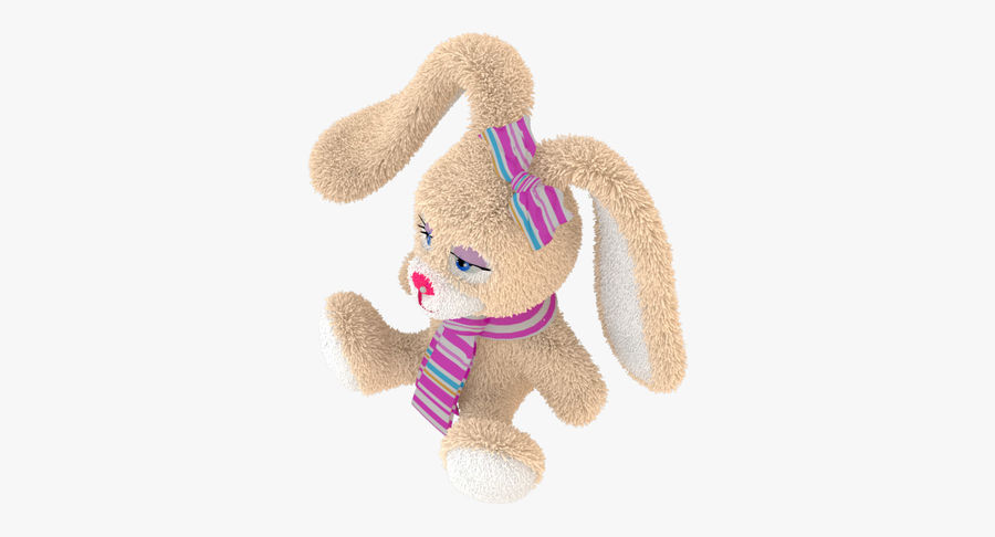 Toy Rabbit royalty-free 3d model - Preview no. 8