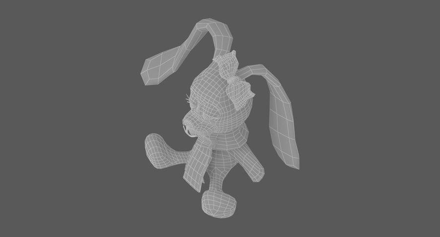 Toy Rabbit royalty-free 3d model - Preview no. 14