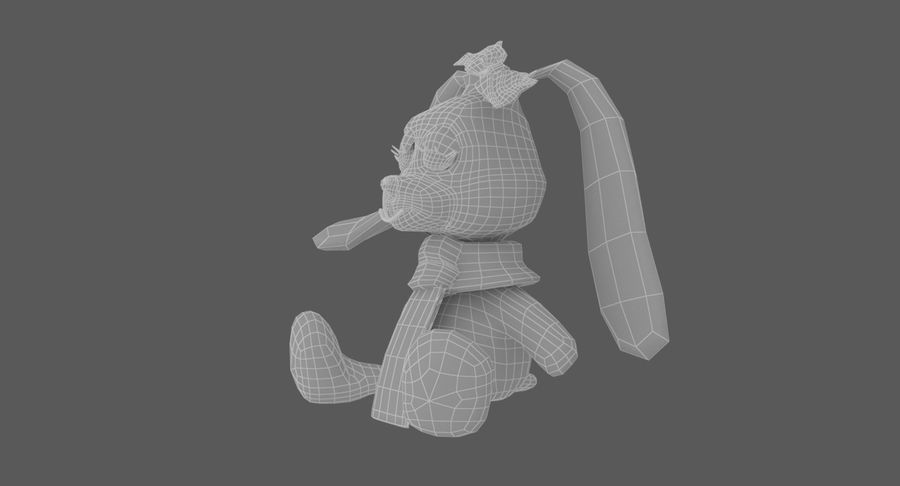 Toy Rabbit royalty-free 3d model - Preview no. 13