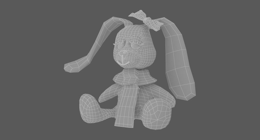 Toy Rabbit royalty-free 3d model - Preview no. 9