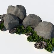 Xeriscape och Rocks 3d model