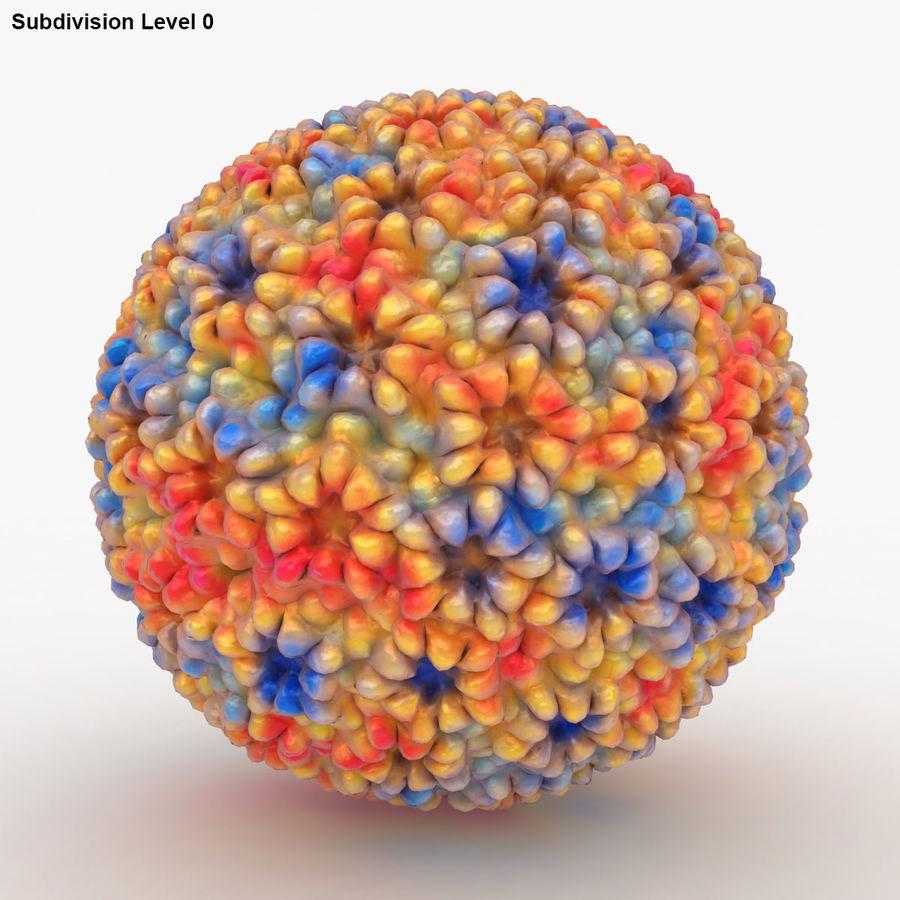 Papilloma Virüsü (Renkli) royalty-free 3d model - Preview no. 13