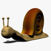 Caracol de dibujos animados modelo 3d
