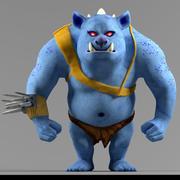 Blue monster 3d model