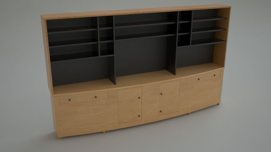 Wall Unit royalty-free 3d model - Preview no. 2