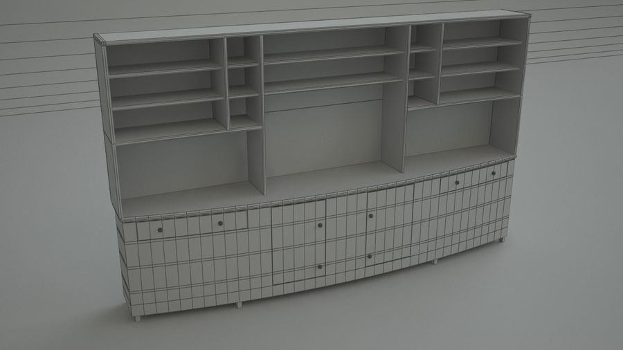 Wall Unit royalty-free 3d model - Preview no. 3